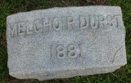 DURST, MELCHOIR - Montgomery County, Ohio | MELCHOIR DURST - Ohio Gravestone Photos