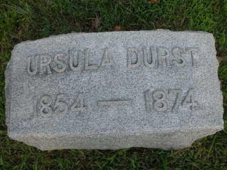 DURST, URSULA - Montgomery County, Ohio | URSULA DURST - Ohio Gravestone Photos