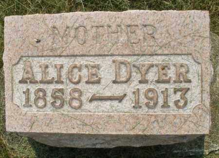 DYER, ALICE - Montgomery County, Ohio | ALICE DYER - Ohio Gravestone Photos