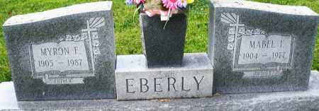 EBERLY, MYRON F. - Montgomery County, Ohio | MYRON F. EBERLY - Ohio Gravestone Photos