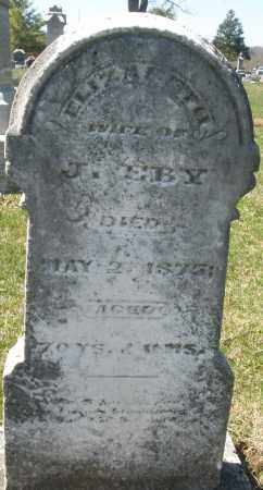 EBY, ELIZABETH - Montgomery County, Ohio | ELIZABETH EBY - Ohio Gravestone Photos