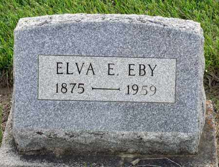 EBY, ELVA E. - Montgomery County, Ohio | ELVA E. EBY - Ohio Gravestone Photos