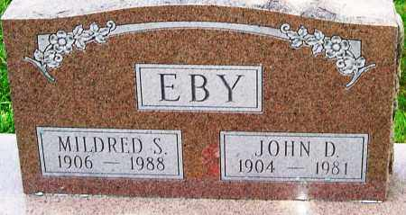 EBY SR., JOHN DAVID - Montgomery County, Ohio | JOHN DAVID EBY SR. - Ohio Gravestone Photos