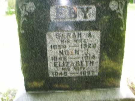 EBY, NOAH J. - Montgomery County, Ohio | NOAH J. EBY - Ohio Gravestone Photos