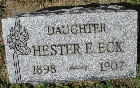 ECK, HESTER E. - Montgomery County, Ohio | HESTER E. ECK - Ohio Gravestone Photos