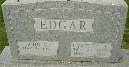 EDGAR, CYNTHIA A - Montgomery County, Ohio | CYNTHIA A EDGAR - Ohio Gravestone Photos