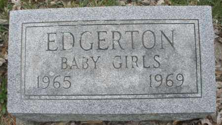 EDGERTON, BABY GIRLS - Montgomery County, Ohio | BABY GIRLS EDGERTON - Ohio Gravestone Photos