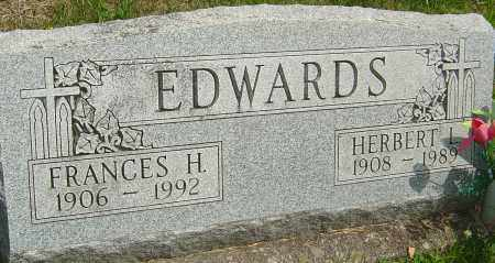 EDWARDS, FRANCES H - Montgomery County, Ohio | FRANCES H EDWARDS - Ohio Gravestone Photos