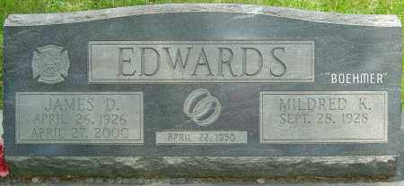 EDWARDS, JAMES DUDLEY - Montgomery County, Ohio | JAMES DUDLEY EDWARDS - Ohio Gravestone Photos