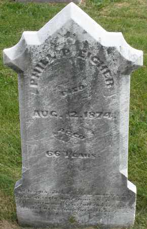 EICHER, PHILLIP - Montgomery County, Ohio | PHILLIP EICHER - Ohio Gravestone Photos