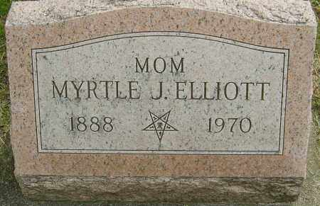 ELLIOTT, MYRTLE J - Montgomery County, Ohio | MYRTLE J ELLIOTT - Ohio Gravestone Photos