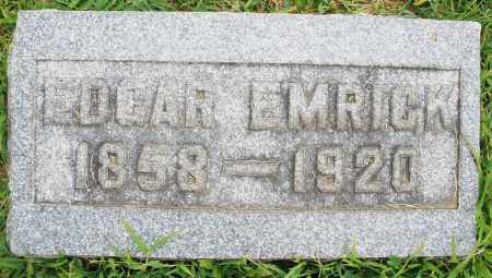 EMRICK, EDGAR - Montgomery County, Ohio | EDGAR EMRICK - Ohio Gravestone Photos
