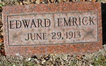 EMRICK, EDWARD - Montgomery County, Ohio | EDWARD EMRICK - Ohio Gravestone Photos