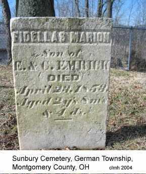 EMRICK, FIDELLAS MARION - Montgomery County, Ohio | FIDELLAS MARION EMRICK - Ohio Gravestone Photos