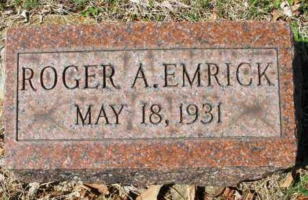 EMRICK, ROGER A. - Montgomery County, Ohio | ROGER A. EMRICK - Ohio Gravestone Photos