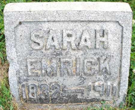 EMRICK, SARAH - Montgomery County, Ohio | SARAH EMRICK - Ohio Gravestone Photos