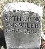 EMSWILER, ARTHUR - Montgomery County, Ohio | ARTHUR EMSWILER - Ohio Gravestone Photos