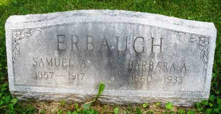 ERBAUGH, SAMUEL A. - Montgomery County, Ohio | SAMUEL A. ERBAUGH - Ohio Gravestone Photos