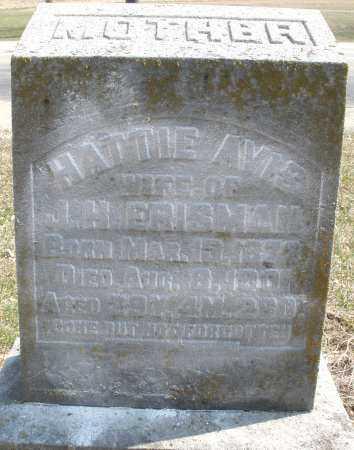 AVIS ERISMAN, HATTIE - Montgomery County, Ohio | HATTIE AVIS ERISMAN - Ohio Gravestone Photos