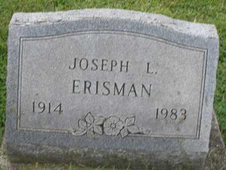 ERISMAN, JOSEPH L. - Montgomery County, Ohio | JOSEPH L. ERISMAN - Ohio Gravestone Photos