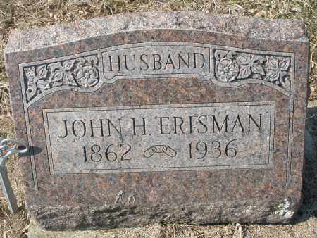 ERISMAN, JOHN H. - Montgomery County, Ohio | JOHN H. ERISMAN - Ohio Gravestone Photos