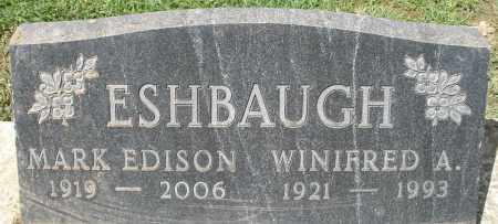 ESHBAUGH, MARK EDISON - Montgomery County, Ohio | MARK EDISON ESHBAUGH - Ohio Gravestone Photos
