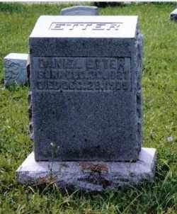 ETTER, DANIEL - Montgomery County, Ohio | DANIEL ETTER - Ohio Gravestone Photos