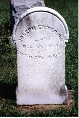 ETTER, JOSEPH, SR. - Montgomery County, Ohio | JOSEPH, SR. ETTER - Ohio Gravestone Photos
