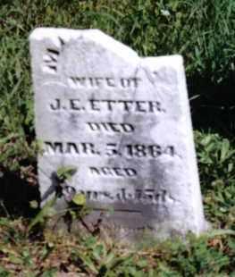 ETTER, MARTHA - Montgomery County, Ohio   MARTHA ETTER - Ohio Gravestone Photos