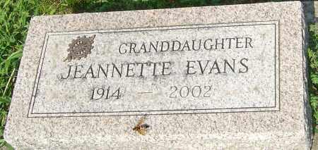 EVANS, JEANNETTE - Montgomery County, Ohio | JEANNETTE EVANS - Ohio Gravestone Photos