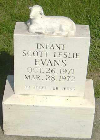 EVANS, SCOTT LESLIE - Montgomery County, Ohio   SCOTT LESLIE EVANS - Ohio Gravestone Photos