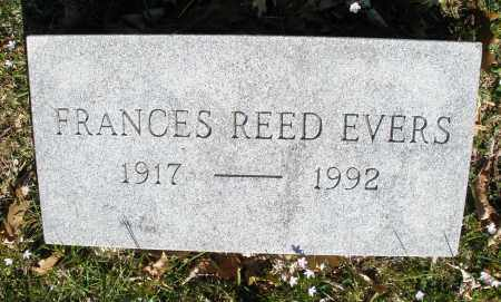 REED EVERS, FRANCES - Montgomery County, Ohio | FRANCES REED EVERS - Ohio Gravestone Photos