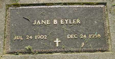 EYLER, JANE B - Montgomery County, Ohio | JANE B EYLER - Ohio Gravestone Photos