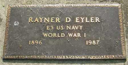 EYLER, RAYNER D - Montgomery County, Ohio | RAYNER D EYLER - Ohio Gravestone Photos