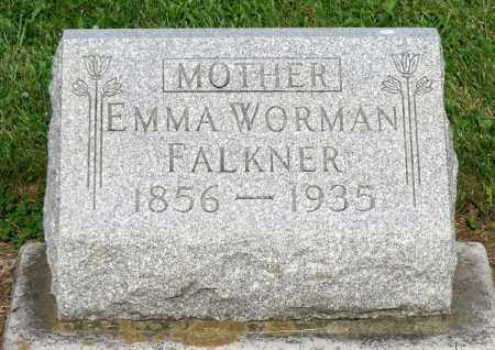 WORMAN FALKNER, EMMA - Montgomery County, Ohio | EMMA WORMAN FALKNER - Ohio Gravestone Photos