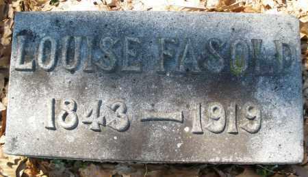 FASOLD, LOUISE - Montgomery County, Ohio | LOUISE FASOLD - Ohio Gravestone Photos