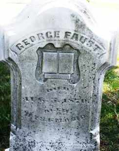 FAUST, GEORGE - Montgomery County, Ohio | GEORGE FAUST - Ohio Gravestone Photos