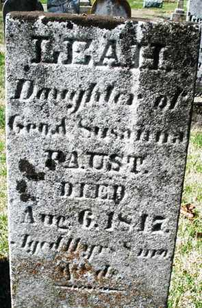 FAUST, LEAH - Montgomery County, Ohio | LEAH FAUST - Ohio Gravestone Photos