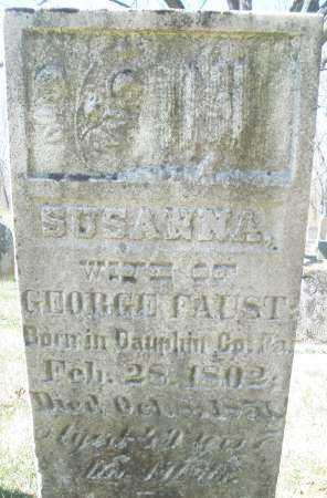 FAUST, SUSANNA - Montgomery County, Ohio | SUSANNA FAUST - Ohio Gravestone Photos
