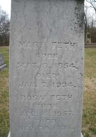 FETH, MARY - Montgomery County, Ohio | MARY FETH - Ohio Gravestone Photos