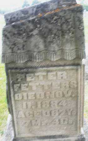 FETTERS, PETER - Montgomery County, Ohio | PETER FETTERS - Ohio Gravestone Photos