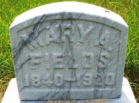 FIELDS, MARY A. - Montgomery County, Ohio | MARY A. FIELDS - Ohio Gravestone Photos
