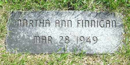 FINNIGAN, MARTHA ANN - Montgomery County, Ohio | MARTHA ANN FINNIGAN - Ohio Gravestone Photos