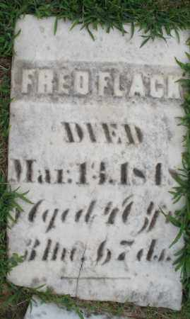 FLACK, FRED - Montgomery County, Ohio | FRED FLACK - Ohio Gravestone Photos