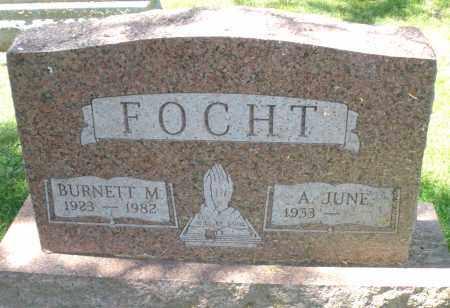 FOCHT, BURNETT M. - Montgomery County, Ohio | BURNETT M. FOCHT - Ohio Gravestone Photos