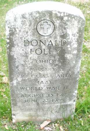 FOLEY, DONALD - Montgomery County, Ohio | DONALD FOLEY - Ohio Gravestone Photos
