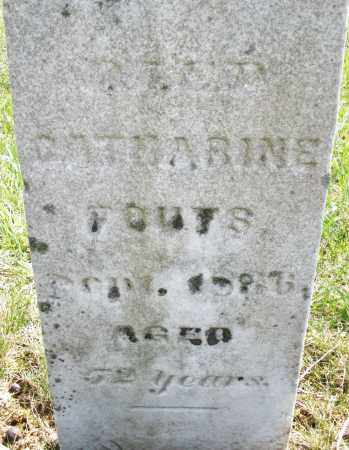 FOUTS, CATHARINE - Montgomery County, Ohio | CATHARINE FOUTS - Ohio Gravestone Photos