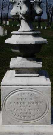 FOUTS, EMMA - Montgomery County, Ohio   EMMA FOUTS - Ohio Gravestone Photos