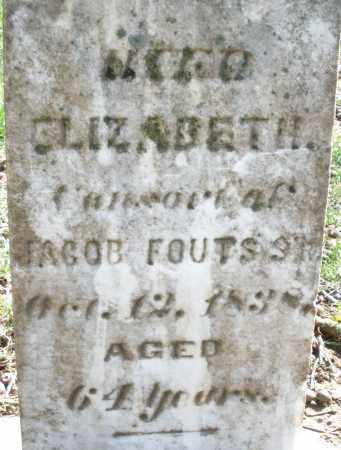 FOUTS, ELIZABETH - Montgomery County, Ohio | ELIZABETH FOUTS - Ohio Gravestone Photos