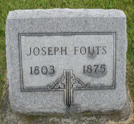 FOUTS, JOSEPH - Montgomery County, Ohio | JOSEPH FOUTS - Ohio Gravestone Photos